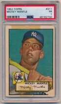 Lot #13 1952 Topps # 311 Mickey Mantle Cond: PSA 1