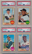 Lot #17 1968 Topps  Complete Set w/105 PSA Graded Cards