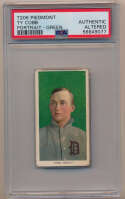 Lot #49 1909 T206  Ty Cobb Green Background Cond: PSA AA