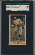 Lot #94 1916 M101-4 Famous and Barr # 184 Honus Wagner Cond: SGC 4