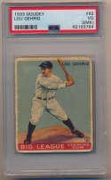Lot #100 1933 Goudey # 92 Lou Gehrig Cond: PSA 3 mk