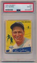 Lot #104 1934 Goudey # 37 Lou Gehrig Cond: PSA 2.5