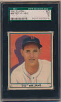 Lot #109 1941 Play Ball # 14 Ted Williams Cond: SGC 3