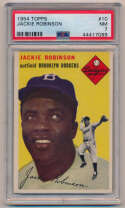 Lot #143 1954 Topps # 10 Jackie Robinson Cond: PSA 7