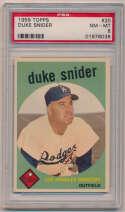 Lot #185 1959 Topps # 20 Snider Cond: PSA 8
