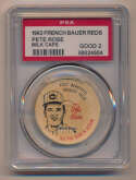 Lot #208 1963 French Bauer Reds Milk Caps  Pete Rose Cond: PSA 2