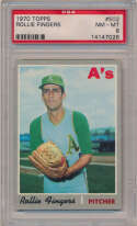 Lot #299 1970 Topps # 502 Fingers Cond: PSA 8