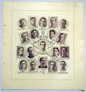 Lot #340 1907 W601 Sporting Life Composite  Chicago Cubs (Brown, Tinker, Evers, Chance) Cond: NM