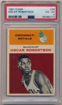 Lot #412 1961 Fleer # 38 Oscar Robertson RC Cond: PSA 4
