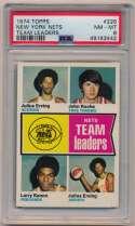 Lot #457 1974 Topps # 226 Nets TL Cond: PSA 8