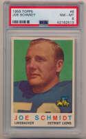 Lot #521 1959 Topps # 6 Joe Schmidt Cond: PSA 8