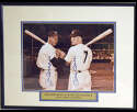 Lot #644  Large Print  DiMaggio/Mantle Signed 11x14 Photo Cond: 9.5