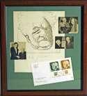 Lot #702    Ben-Gurion, David Signed/Framed 15x16 Display Cond: 9