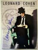 Lot #774  Program  Cohen, Leonard Signed Program Cond: 9.5