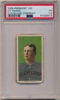 Lot #44 1909 T206  Young (Cleveland, portrait) Cond: SGC 1.5