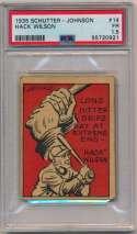 Lot #211 1935 Schutter-Johnson # 14 Hack Wilson Cond: PSA 1.5