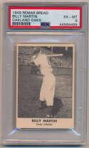 Lot #316 1949 Remar Bread  Billy Martin Cond: PSA 6