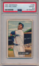 Lot #336 1951 Bowman # 165 Ted Williams Cond: PSA 2.5