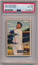 Lot #338 1951 Bowman # 165 Ted Williams Cond: PSA 4