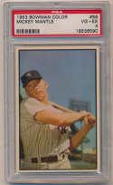 Lot #399 1953 Bowman Color # 59 Mantle Cond: PSA 4