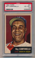 Lot #410 1953 Topps # 27 Campanella Cond: PSA 4.5