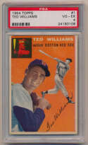 Lot #451 1954 Topps # 1 Ted Williams Cond: PSA 4
