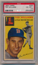Lot #462 1954 Topps # 250 Ted Williams Cond: PSA 4.5