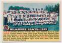 Lot #572 1956 Topps # 95.2 Braves Team Dated 55 Cond: Ex-Mt