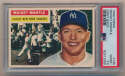 Lot #582 1956 Topps # 135 Mantle Cond: PSA 2.5
