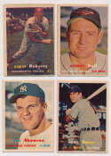 Lot #627 1957 Topps  193 assorted cards Cond: Ex