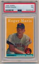 Lot #640 1958 Topps # 47 Maris RC Cond: PSA 7