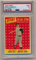 Lot #669 1958 Topps # 487 Mantle AS Cond: PSA 5