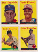 Lot #670 1958 Topps  400 different w/some stars Cond: VG to VG-Ex