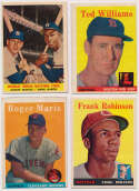 Lot #673 1958 Topps  Lot of 312 cards w/Maris RC and Ted Williams #1 Cond: VG to VG-Ex