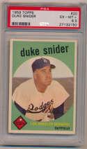 Lot #681 1959 Topps # 20 Snider Cond: PSA 6.5