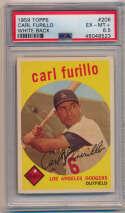 Lot #690 1959 Topps # 206 Furillo Cond: PSA 6.5
