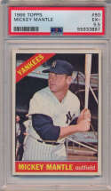 Lot #804 1966 Topps # 50 Mantle Cond: PSA 5.5