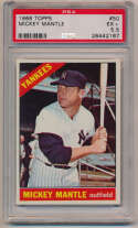 Lot #805 1966 Topps # 50 Mantle Cond: PSA 5.5