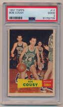 Lot #833 1957 Topps # 17 Bob Cousy RC Cond: PSA 2