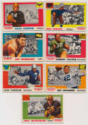 Lot #838 1955 All American  Lot of 63 cards (60 different) Cond: VG-Ex/Ex